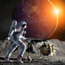astronaut planet universum raumschiff freetoedit