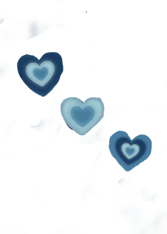 blue aesthetic heart freetoedit