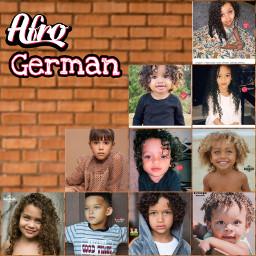 africanamerican german africanamericangerman afrogerman kids gorgeous beautiful i- freetoedit picsart i