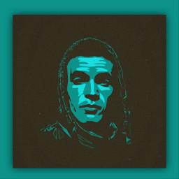 vector vectorart art faceart graffiti noir black bleu freetoedit