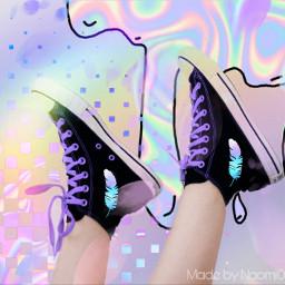 holographic holo shoes freetoedit ircstepbystep stepbystep