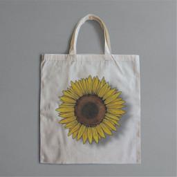flower sunflower bag chothbag aesthetic freetoedit ircdesignthetotebag designthetotebag