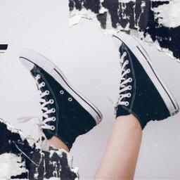 converse shoes blackconverse blackandwhite conversehightops ircstepbystep stepbystep freetoedit