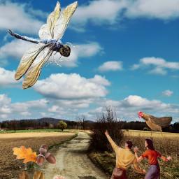 nature strange surrealistic retro giant freetoedit