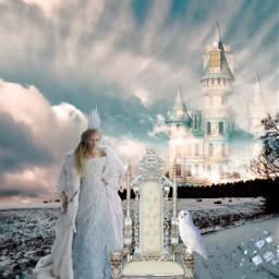 snowqueen winter surrealistic fairytale freetoedit