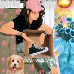 cartoon sports girl dog ircstepbystep stepbystep freetoedit