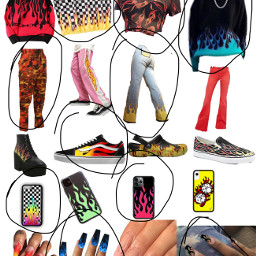 outfit fire freetoedit