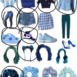 outfit blue freetoedit