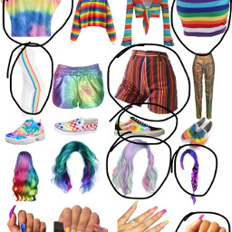 outfit rainbow freetoedit