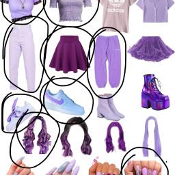 outfit purple freetoedit