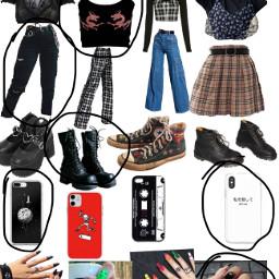 black outfit grunge freetoedit