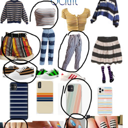 outfit striped freetoedit