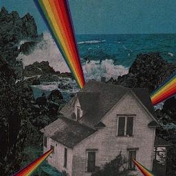 rainbow house indiekid background positive boom wirld