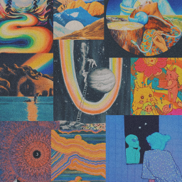 collage colours vintage 90s aesthetic aestheticcolage background trippy wallpaper freetoedit