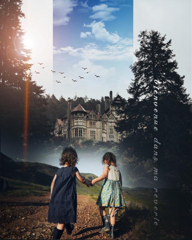 ##daydream #doubleexposure #quotes #kids #castle #birds