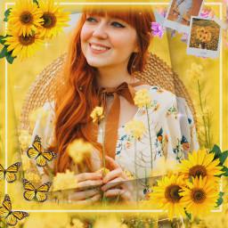 yellowaesthetic flowers frame portrait floral yellow freetoedit