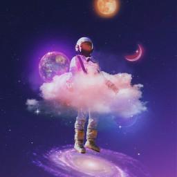 galaxy universe astronaut sky heaven clouds planets moon lights nebula purple purpleaesthetic blue glitter aesthetic aestheticedit aesthetictumblr aestheticwallpaper creative vaporwave surreal imagineabrighterreality makeawesome remixit freetoedit