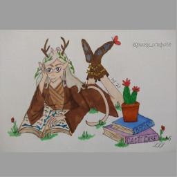 bringbackremixchat saveremixchat stopforcingkidstoremix drawing fantasyart elf fae faery elfdrawing art