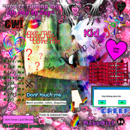 freetoedit love toxiclove toxic innocent pure toxiccouple kid teen teenlove teengirl rainbow rainbowaesthetic destroyboys songlyrics disgusting gross kiss