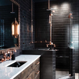 black bathroom freetoedit imvustories27609