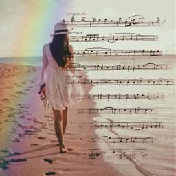 picartchallenge beachwalk beach srcmusicalnotes musicalnotes freetoedit