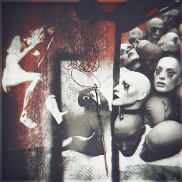 freetoedit pain unsplash grunge darkart mannequin creepy