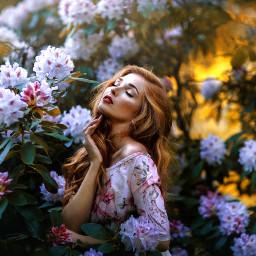 freetoedit flowers surreal floral roses picart prettygirl remix
