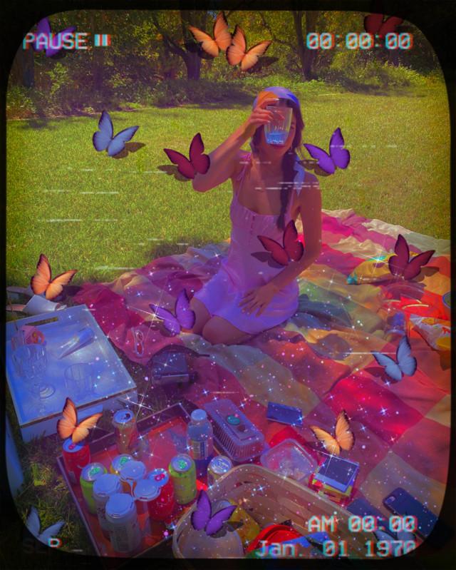 #replay #picsartreplay #vintage #heypicsart #picnic #cute #enjoying #creative #butterflys