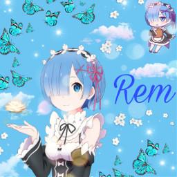 freetoedit rem rezero rezeroedit rezerorem cute cutegirl blue blueasthetic bluegirl kawaii kawaiigirl adorable anime animegirl cuteness edited editbyme