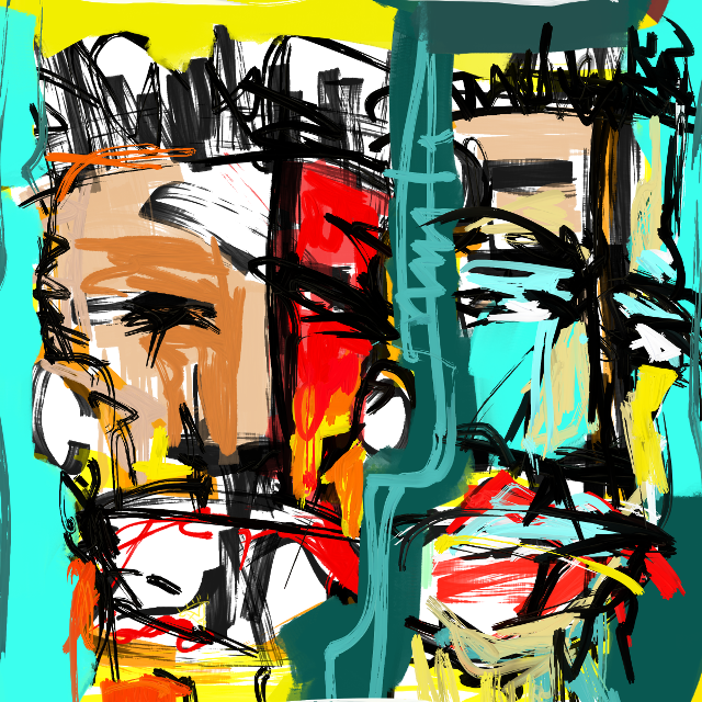"""Two Men (Haiti)"" #art #artist #abstract #sonnythesaint #sonnyleel #neoexpressionism"