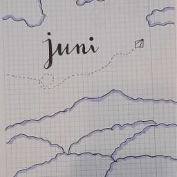 bujogang bujo bulletjournal handlettering clouds june juni