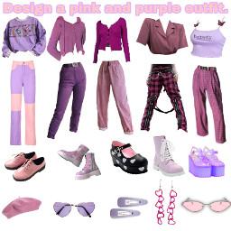 pinkandpurpleclothes outfit icebreakers freetoedit