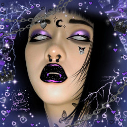 ulzzang purple black goth ibis ibispaintx aesthetic edit manipulationedit blackandpurple kuromi