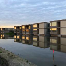 sunset reflection architecture hotel japan tsuruoka shigeruban 伴茂