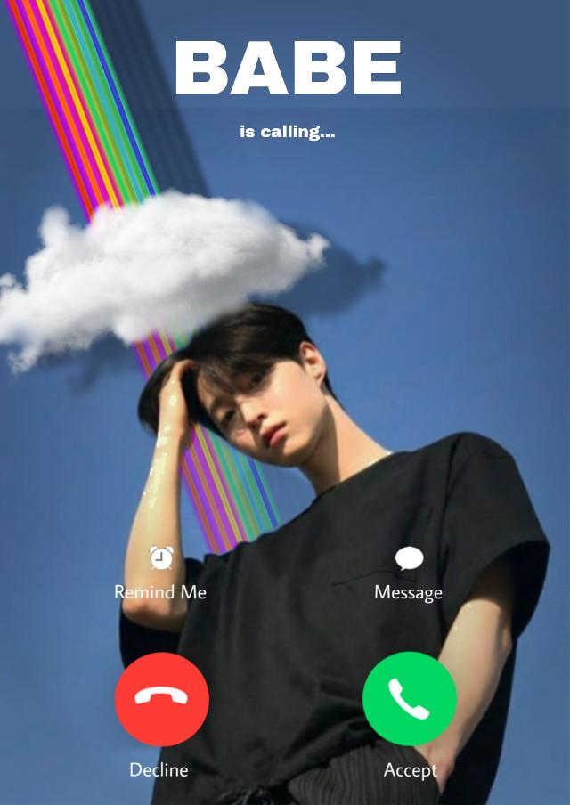 #babe #call #boy #rainbow