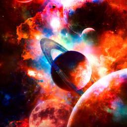 space galaxy galactic universe surreal planets moon background makeawesome photomanipulation picsart heypicsart madewithpicsart papicks freetoedit
