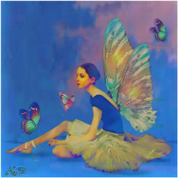 butterflywings editingchallenge madewithpicsart imagination fairy butterfly wings ballet dancer blend differenceeffect girl inspiration pastel ecbutterflywings freetoedit