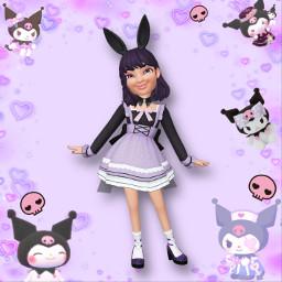 kuromi sanrio kuromisanrio mymelody evildevilgirl pastelpurple blackandpurple purpleaesthetic gothiclolita bunnygirl kuromioutfit sanriocore myzepeto zepeto freetoedit