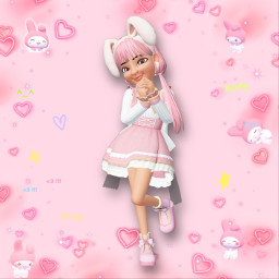 mymelody sanrio mymelodysanrio sanriocore pastelpink pastelpinkaesthetic pinkaesthetic bunnygirl mymelodyoutfit sanriooutfit sanriocharacter pinkandyellow myzepeto zepeto freetoedit