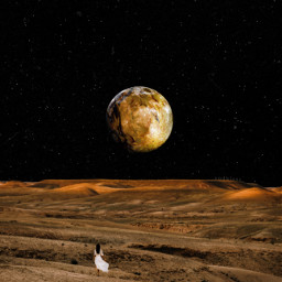 unsplash stars planet moon space nightsky sky desert collage surreal surrealism