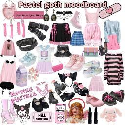 pastelgoth pastel goth aesthetic moodboard freetoedit