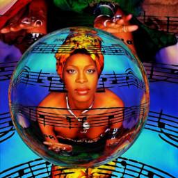 erykahbadu orangemoon erykah musicalnotes music lyrics neosoul trippy abstract surreal digitalart srcmusicalnotes