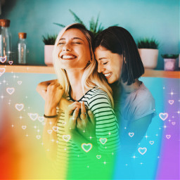 freetoedit pride pridemonth lgbtq pridebrush brush rainbow hearts heartbrush rainbowcolors