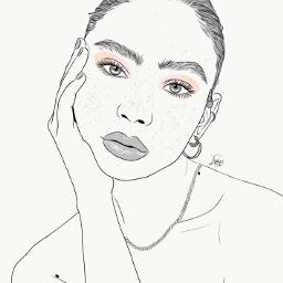 drawing outline sketch digitalart art outlineart digitaldrawing drawingart love creativity creative portrait girl freetoedit