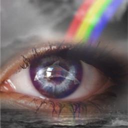 freetoedit pridemonth june lgbtqpride rainbow eye papicks heypicsart lgbt lgbtq dolphin beunique beyourself selflove