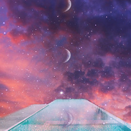 pool dreamy moon psychedelic stayinspired vibes luna heypicsart makeawesome sky colors colorful stars backgrounds unsplash