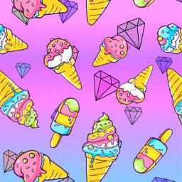 icecream dimond background freetoedit