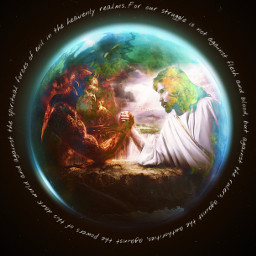 goodvsevil spiritualwarfare spiritual earth freetoedit picsart