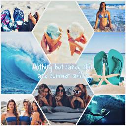 freetoedit summer blueasthetic blue aesthetic colage icecream beach ocean bikini waves sandals italy sunglasses ccsummermoodboard summermoodboard