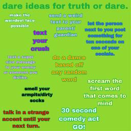 freetoedit truthordare dare icebreackers ideas